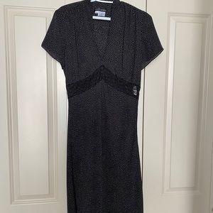 Unique Franco Mirabelli black dress size 8